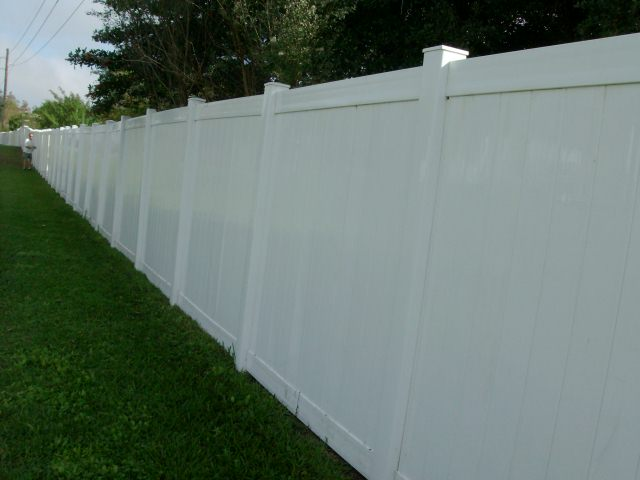 Cleaned PVC Community Fence