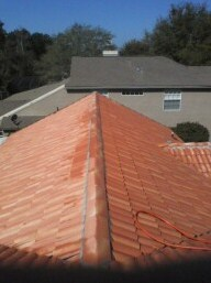 Tile barrel roof cleaning Orlando Florida