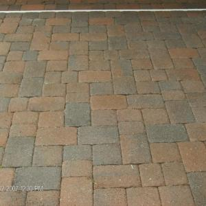 pressure cleaned and sealed Paver Bricks