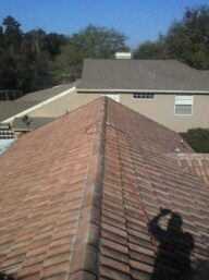 Barel tile roof cleaning in Orlando Florida